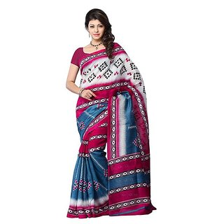 First Loot Wine And Blue Color Art Silk Saree - Divdfs447A
