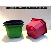 FANCY POT SET OF 5PCS MULTI COLORS SIZE 6