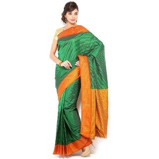 Pure Silk Kanjeevaram Hand women Saree-Black-SLV18-VS-Silk