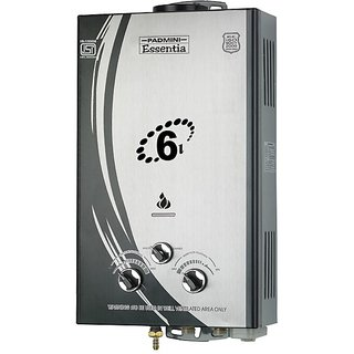 Padmini  Inox 6LTR Gas Water Heater