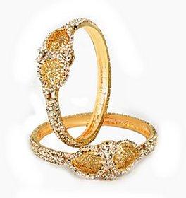 VK Jewels Infinity Gold Plated Bangles- BG1036G