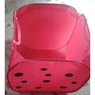 Foldable Laundry Bag basket IN ASSORTED COLORS N DESIGNS