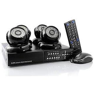 4 CCTV Camera And DVR Set Black