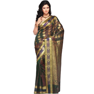 Kanchipuram or Kanchi Polysilk Saree