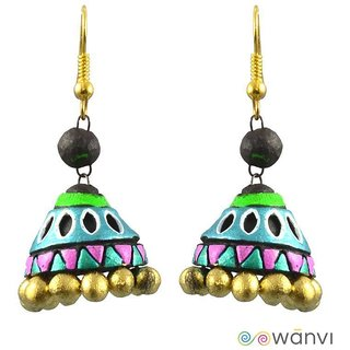 Terracotta Jhumka Earrings