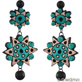 Rangoli Terracotta Earrings