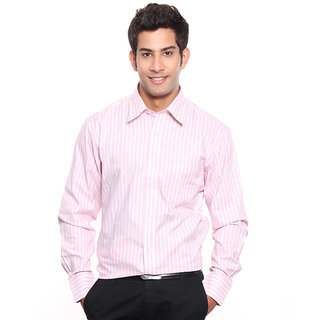SPEAK Basic Light Pink Stripes Shirt
