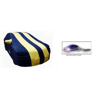 Uneestore-100 Waterproof-Mahindra Bolero -Car Body Cover-Pearl Yellow And Blue