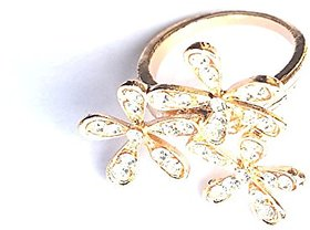 GirlZ!Festive Special Fashion Rhinestone Flower Ring