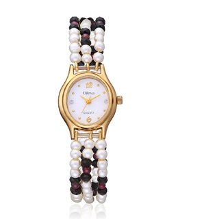 Oleva Ladies Pearl Watch with Golden Dial-OPW102TS