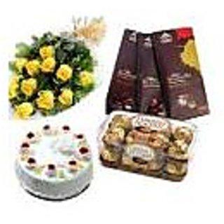 ROSES, CAKE, FERRERO ROCHER & CHOCOLATE