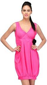 Klick2Style Pink Plain Bodycon Dresses For Women