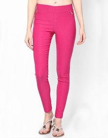 Sukuma Designer Stretchable Pink Jegging