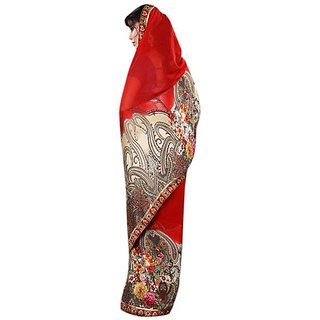 Firstloot Fashionable Printed Georgette Jacquard Saree
