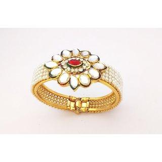 Beautifull kundan meena pearl bracelet / kada