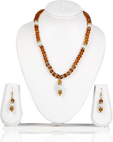 Bhurri'S Daily Wear Pearl Necklace Set (Yellow)