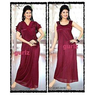 207B Hot Sleep Wear 2pc Nighty Robe Onion Women Bed Gown Lounge Wear Slip 0a453f594