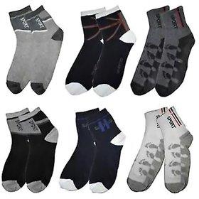 iLiv Multicolor Cotton Ankle Socks Set of 6 Pair