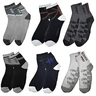 DDH Multicolor Cotton Ankle Socks Pack of 6 Pair