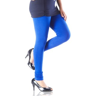 Womens Cotton Blend Legging Blue Free Size Tights Footless Legging Slim Fit Leggis Yoga pant