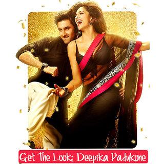 Black and Pink Deepika padukone YJHD saree