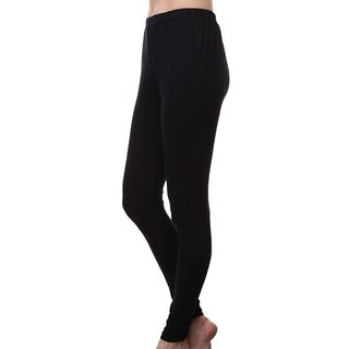 Womens Cotton Blend Legging Black Free Size Tights Footless Legging Slim Fit Leggis Yoga pant