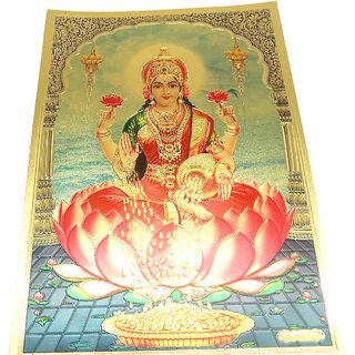 Gold Foil Medium Print Frame of Laxmi Mata
