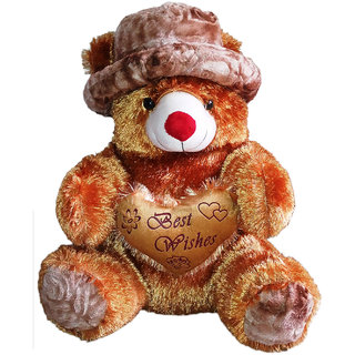 Porcupine 36 Inches Teddy Bear With Beautiful Cap - Brown