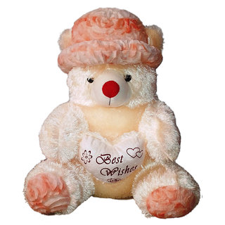 Porcupine 48 Inches Teddy Bear With Beautiful Cap - Beige