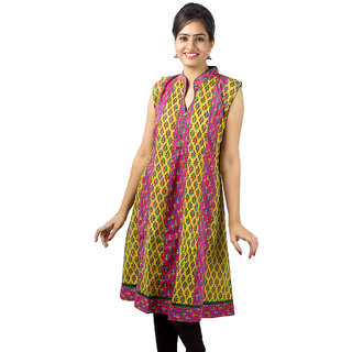 Ramasa Designer Anarkali Kurta (Sleeves Inside, Long, Pink)