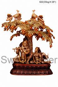 Brass Krishna Statue Playing Flute 35kg