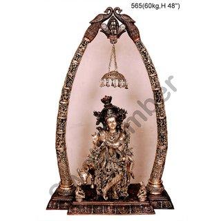 Brass Radha Krishna Statue with Arch 60kg