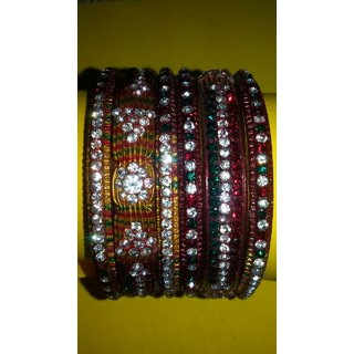 Beautiful Lakh Bangles Multicolor