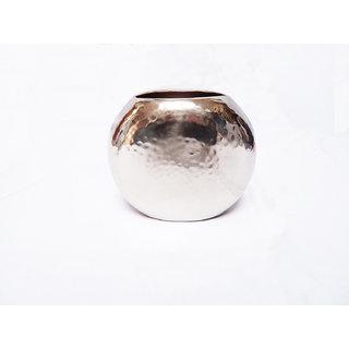 Round Stainless Steel Medium Flower Vase