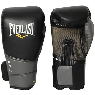 Everlast Protex2 Ever gel Training Gloves Black Size 8