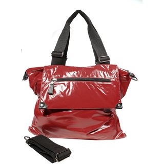 Just Women Bright Patched Red Handbag