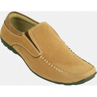 Men'S Faux Leather Loafer Shoes Brown