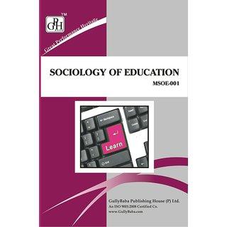 MSOE001 Sociology of Education (IGNOU Help book for MSOE-001 in English Medium)