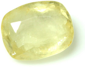 Loose 100% Natural & Certified 4.93 Ct. Yellow Sapphire Gemstone