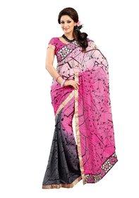 Alira Multicolor Brocade Self Design Saree With Blouse