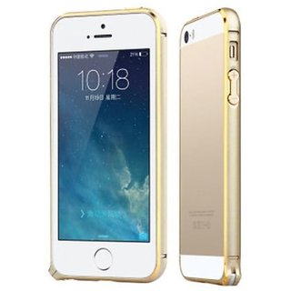 ury round arc edge dual gold lined metal bumper case for    6