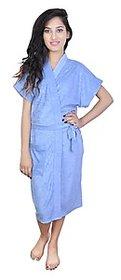 Imported 100 Turkish Bathrobe  Gown (Sky Blue)