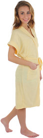Imported Womens Bath Gown (Yellow)