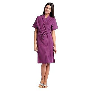 Violet Bathrobe Spa Gown