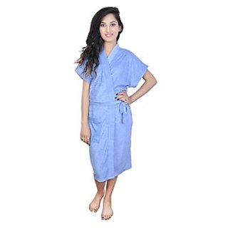 Imported 100 Turkish Bathrobe  Gown (Sky Blue)