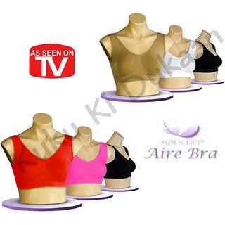 Combo of 100% Original Sports Aire Bra - Freesize ( Set of 3)