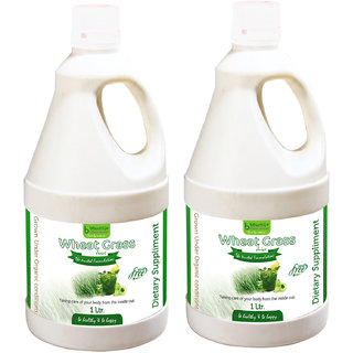 WHEAT GRASS JUICE SUGAR FREE (WITH ALOEVERA  AMLA) 1 LTR. (COMBO PACK OF TWO)