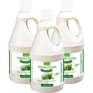 WHEAT GRASS JUICE SUGAR FREE (WITH ALOEVERA  AMLA) 1 LTR. (COMBO PACK OF THREE)