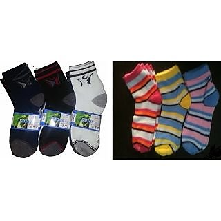 3 Pair of Gents  3 Pair of Ladies Socks