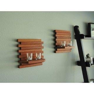 Wood Ocean Wooden Wall Bracket With Elegant Finish (Set Of 2)
